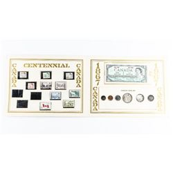 1867-1967 Commemorative Set with Stamps