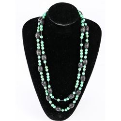 "Estate Turquoise 26"" Double Strand Necklace"