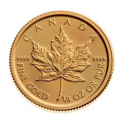 Royal Canadian Mint .9999 Fine Gold Maple Leaf. 1/