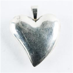 925 Sterling Silver Puffed Heart Pendant