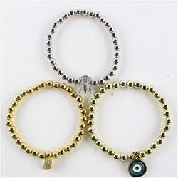 Lot (3) Bead Bracelets