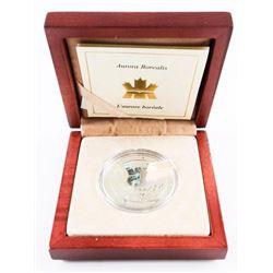 .9999 Fine Silver $20.00 Hologram Coin 'Aurora Bor
