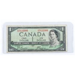 Bank of Canada 1954 Devil's Face 1.00.