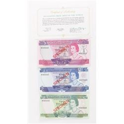 Set (3) Solomon Islands SPECIMEN NOTES -2,5,10 wit