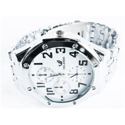 Gents Quartz Watch large Dial. Stainless Steel