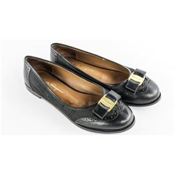 Estate Salvatore Ferragamo Black Ladies Shoes. Siz