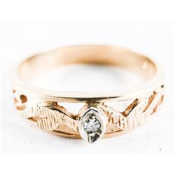 Estate 10kt Gold Band Ring. Size 10 1/4