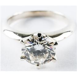 Ladies 925 Sterling Silver 'Moissanite' Ring 6.50m