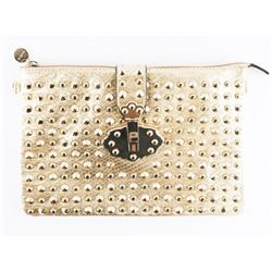 Ladies Gold Studded Evening Bag