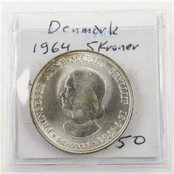 Denmark 1964 5 Kroner KM#854