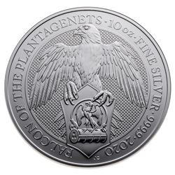 Royal Mint Falcon .9999 Fine Silver Round. 10oz. C