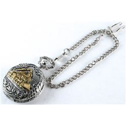 Railroad Pocket Watch with Fob (ER)