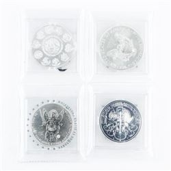 Group of (4) .9999 Fine Silver 1oz Coins - From Fa
