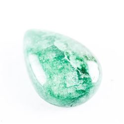 Loose Gemstone 9.78ct Pear Cabochon Cut Emerald. T