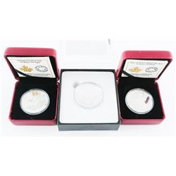 Group of (3) Bison Coins .9999 Fine Silver with C.