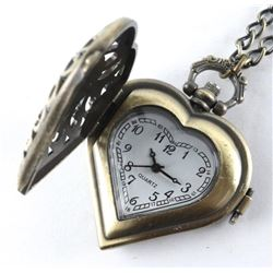 Antique Style - Heart Pendant Watch