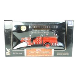 Die Cast 1941 GMC Fire truck with 24kt Gold Plated