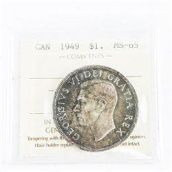 1949 CAD Silver Dollar MS65. (sxr)