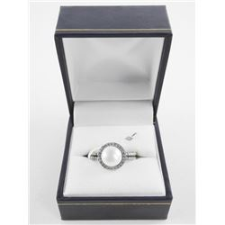925 Silver Ring Classic Pearl with Swarovski Eleme