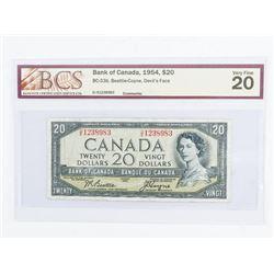 Bank of CANADA 1954 - 20.00 Devil's Face. (VF20) B