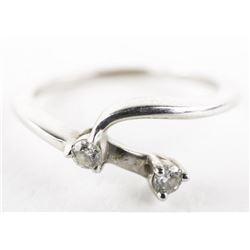Estate Ladies 14kt Gold 2 Diamonds Ring Size 7 1/4