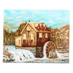 John Flaxman 1921- 2013 Giclee Fine Art Canvas 'Ri