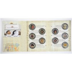Ancient Egypt 10x$2.00 Coin Set Proof 925 Sterling