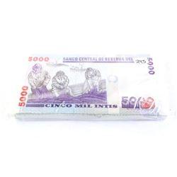 Brick (100) PERU 5000 INTIS GEM UNC305