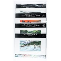 Group of (4) FLY-FISHING Lithos with Proof Canada