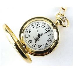 (Gold Tone) Pocketwatch with Fob