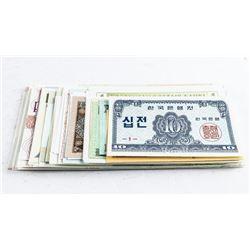 Lot (50) World Notes, Approx 50 Countries - GEM UN