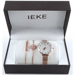 Ladies Watch and Jewellery Gift Set Rose