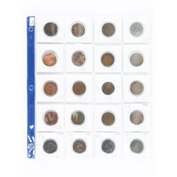 Group of (20) Canada Large Cents Early 1900s