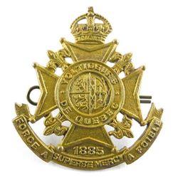 Voltigeurs De Quebec WII Cap Badge