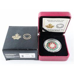 2014 $25.00 .9999 Fine Silver Coin - Christmas Orn