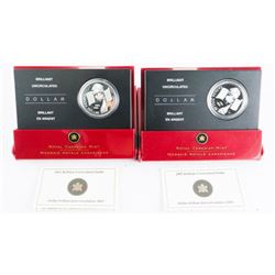 Lot (2) RCM Silver (BU) (UNC) Dollars