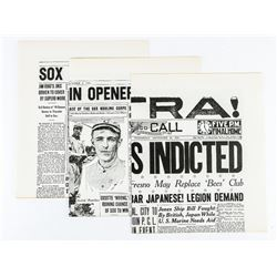 Group (3) Newspapers White Sox 1919-1920