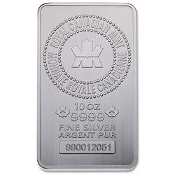 Royal Canadian Mint .9999 Fine Silver 10oz Bar. Se