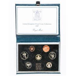 UK 1987 Proof Coin Set Royal Mint