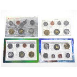 Lot (4) RCM UNC Coin Sets