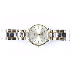 Gents New Quartz Watch 2 Tone Band