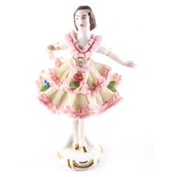 German Dresden Ballerina Figure (Pink) (MXR)