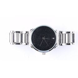 Gents New Quartz Watch Black Face - Stainless
