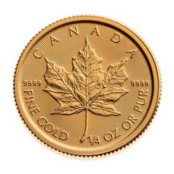 Royal Canadian Mint .9999 Fine Gold Maple Leaf. 1/