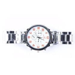 Unisex New Quartz Watch Large Face - Red Number