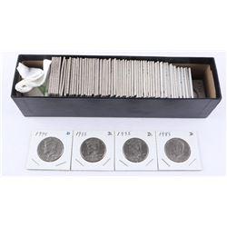 Box Lot Approx (77) USA Kennedy Half Dollar 2x2's