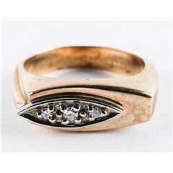Gents 10kt Gold Diamond Band Ring Size 9.5 (7.22gr