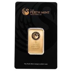 Australian 20 Gram .9999 Fine Gold Bar. Serialized