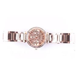 Ladies New Quartz Watch Rose Gold with Swarovski E