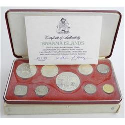 1973 Bahamas Proof Set Silver 3oz ASW